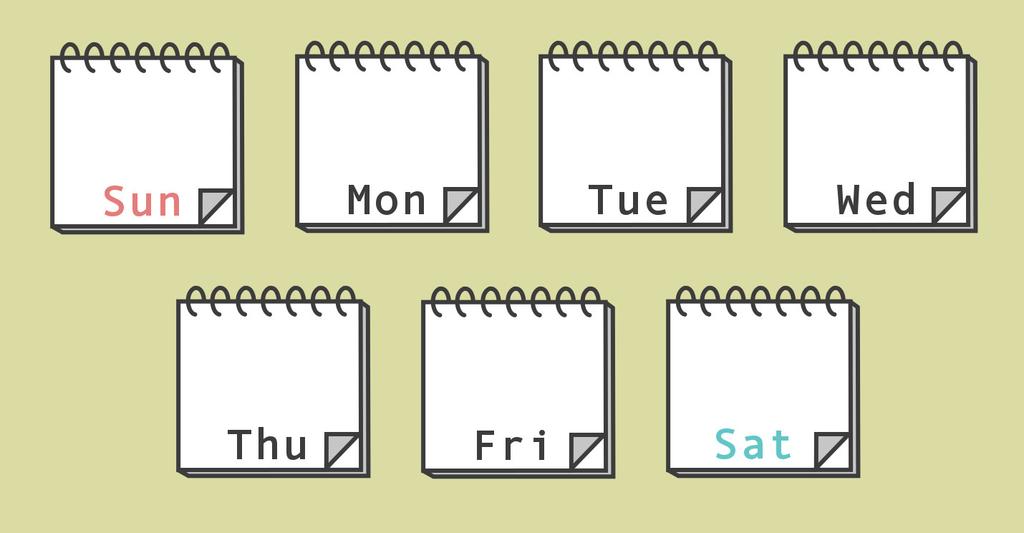 英語 何 曜日 です か